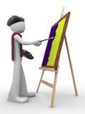 Proceso de pintura stock de ilustración