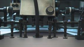 Proceso de trabajo de la impresora industrial almacen de metraje de vídeo