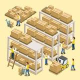 Proceso de trabajo logístico ilustración del vector