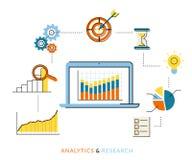 Proceso del Analytics Foto de archivo libre de regalías