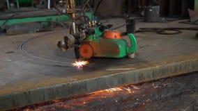 Proceso del corte del laser almacen de metraje de vídeo