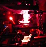 Proceso del laser Foto de archivo libre de regalías
