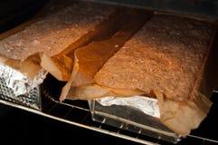 Proceso del pan hecho en casa Fotos de archivo