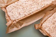 Proceso del pan hecho en casa Imagen de archivo