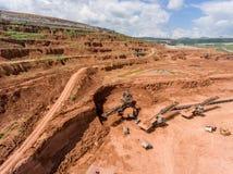 Proceso en mina de carbón Imágenes de archivo libres de regalías
