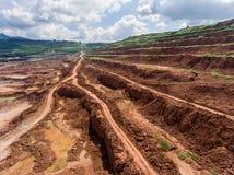 Proceso en mina de carbón Fotografía de archivo libre de regalías