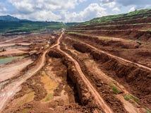 Proceso en mina de carbón Imagen de archivo