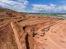 Proceso en mina de carbón Foto de archivo