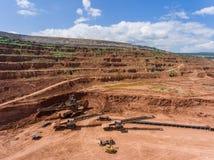 Proceso en mina de carbón Imagen de archivo libre de regalías
