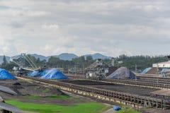 Proceso en mina de carbón Fotografía de archivo
