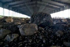 Proceso en mina de carbón Foto de archivo libre de regalías