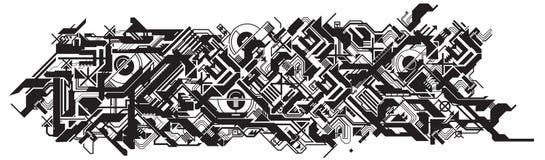 Proceso futurista de las hojas de operación (planning) de producción libre illustration