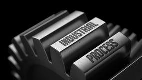 Proceso industrial en los engranajes del metal Imagen de archivo