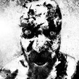 Proceso monstruoso de los gráficos del hombre Fotografía de archivo libre de regalías