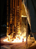 Proceso tecnológico de la metalurgia foto de archivo libre de regalías
