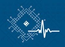 Procesor sztucznej inteligenci sygnałowy wektor Zdjęcie Stock
