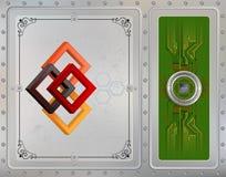 Procesoru układ scalony na kółkowym kruszcowym przyrządzie łączył z obwód deską ilustracja wektor