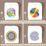 Procesos de lavado automáticos Fotos de archivo libres de regalías