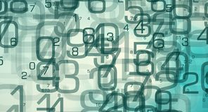 Process of analysis computer data. Abstract random numbers 0-9, computer big data concept Stock Images