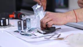 Process of apartment renovation. repair tools. remodeling, doing repairs. FullHD footage.