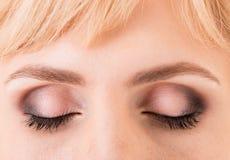 Process of applying makeup Stock Images