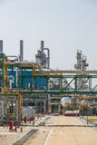 Process area of oil refinery plant Royalty Free Stock Image