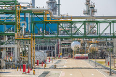 Process area of oil refinery plant Royalty Free Stock Photos