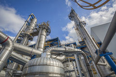 Process area of refinery plant Stock Photography