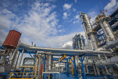 Process area of refinery plant Stock Photo