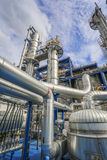 Process area of refinery plant Royalty Free Stock Image