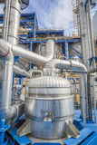 Process area of refinery plant Stock Images