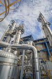 Process area of refinery plant Stock Image