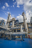 Process area of refinery plant Royalty Free Stock Images
