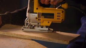 Process av arbete för snickare` s i studio lager videofilmer