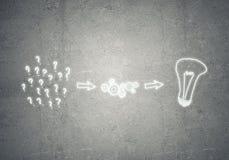 Process av att tänka Arkivfoton