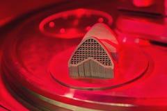 Process av produktion av ett objekt vid en pressmetod från metallpulver på skrivaren 3D fotografering för bildbyråer
