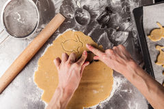 The process of baking cookies at home Royalty Free Stock Images