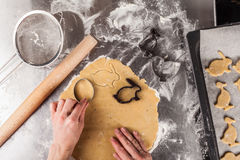 The process of baking cookies at home Royalty Free Stock Photos