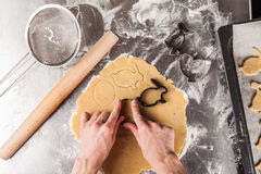 The process of baking cookies at home Royalty Free Stock Photo