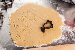 The process of baking cookies at home Stock Photography