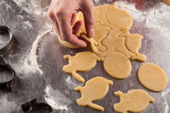 The process of baking cookies at home Stock Photos