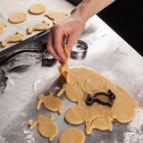 The process of baking cookies at home Royalty Free Stock Photography