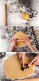 The process of baking cookies at home Stock Image