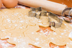 The process of baking homemade cookies. Royalty Free Stock Images