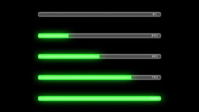 Process bar green dark Royalty Free Stock Photos