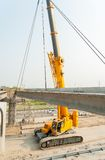Process of bridge construction Royalty Free Stock Image