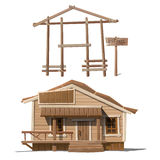 Process of building house and sign sale Stock Photography