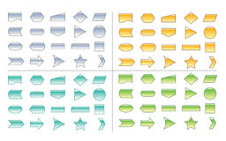 Process Chart Shapes Stock Image