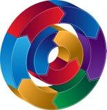 Process Circle Diagram Stock Photos