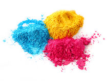 Process color chalk powder stock image
